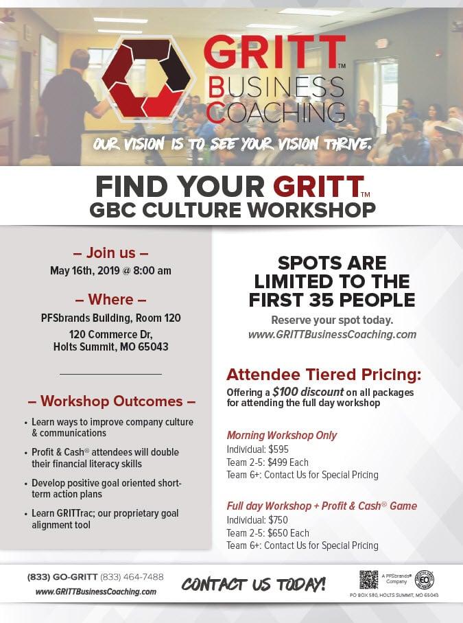 GRITT Business Coaching Workshop GRITT