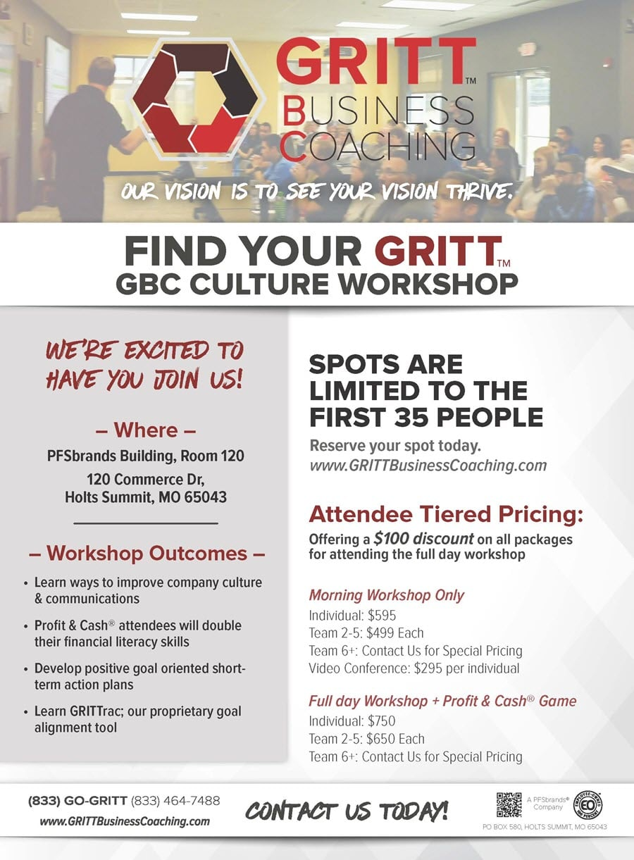 GRITT Business Coaching Culture Workshop